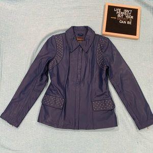 Bradley by Bradley Bayou Studded Leather Jacket